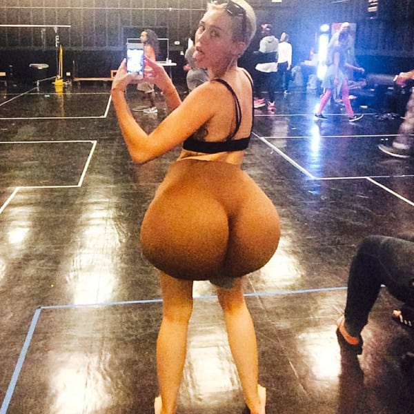 Miley Cyrus with a Big Butt