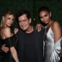 Charlie Sheen and Two Women