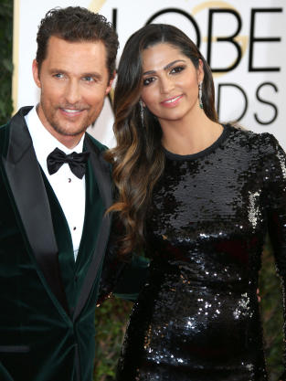 Matthew McConaughey and Camila Alves at Golden Globes