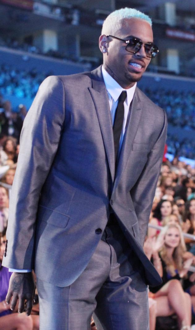 Chris Brown at the MTV VMAs