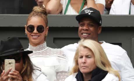 Beyonce and Jay Z Attend Wimbledon
