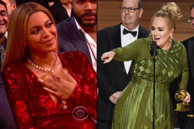 Beyonce Fans React to Adele Beating Beyonce at the Grammys