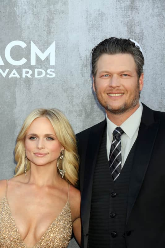 Blake shelton and miranda lambert red carpet