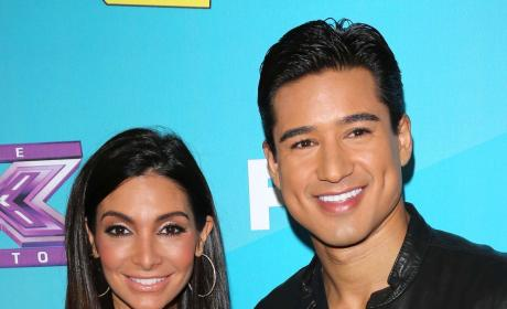 Courtney Mazza and Mario Lopez