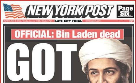 New York Post & Daily News bin Laden covers: Bad taste?