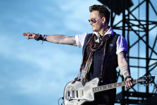 Johnny Depp Performs Germany