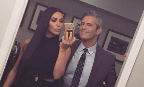 Andy Cohen and Kim Kardashian