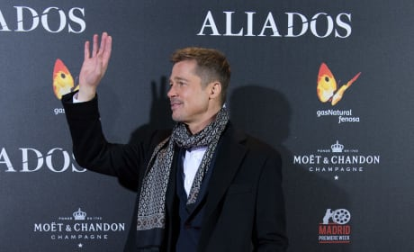 Brad Pitt at Allied Opening