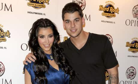 Kim Kardashian and Rob Kardashian
