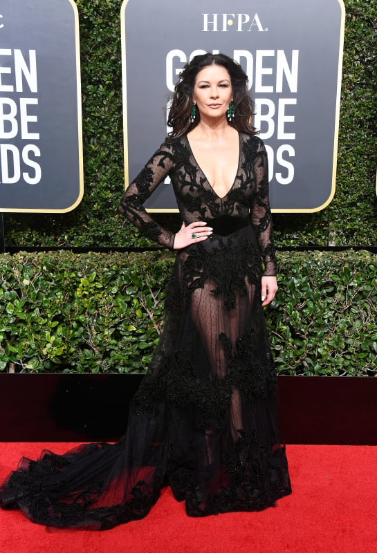 Catherine zeta jones at the globes