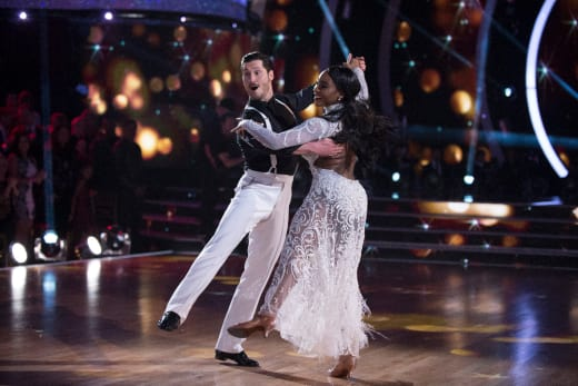 Normani Kordei and Valentin Chmerkovskiy