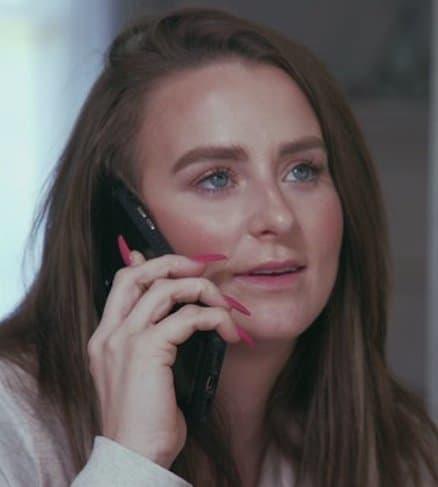 Leah messer on phone
