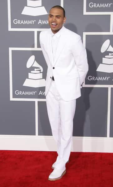 Chris Brown at Grammy Awards