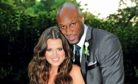 Lamar Odom and Khloe Kardashian Wedding Picture