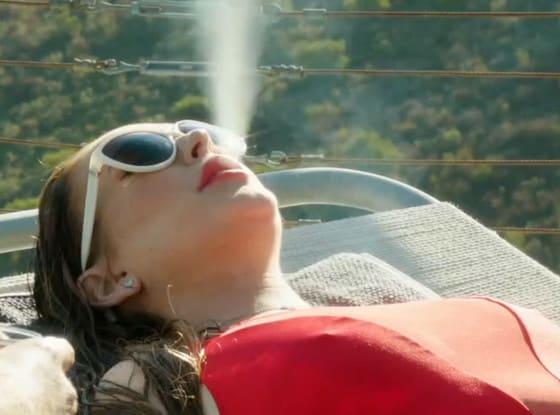 Lindsay Lohan Blows (Smoke)