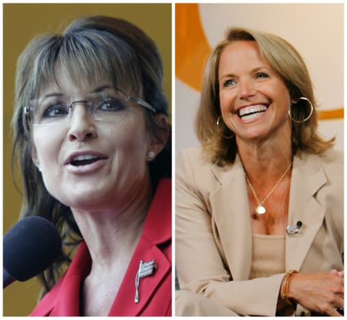 Palin and Couric