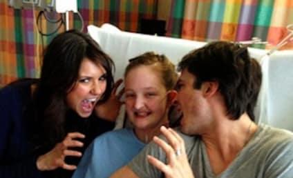 Ian Somerhalder, Nina Dobrev Pose With Transplant Patient, Tweet Well Wishes