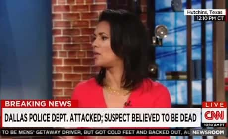 """Fredricka Whitfield Refers to Dallas Gunmen as """"Courageous and Brave"""""""