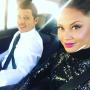 Nick Lachey and Vanessa Lachey in the Car