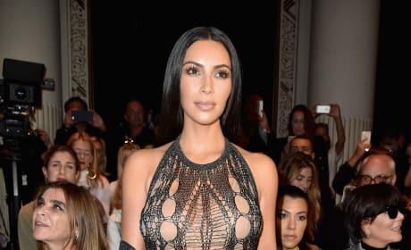 Kim Kardashian Paris Fashion Week Outfit