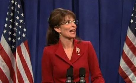 Tina Fey and Sarah Palin on Saturday Night Live