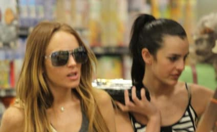 Ali Lohan and Lindsay Lohan Shop, Look Miserable