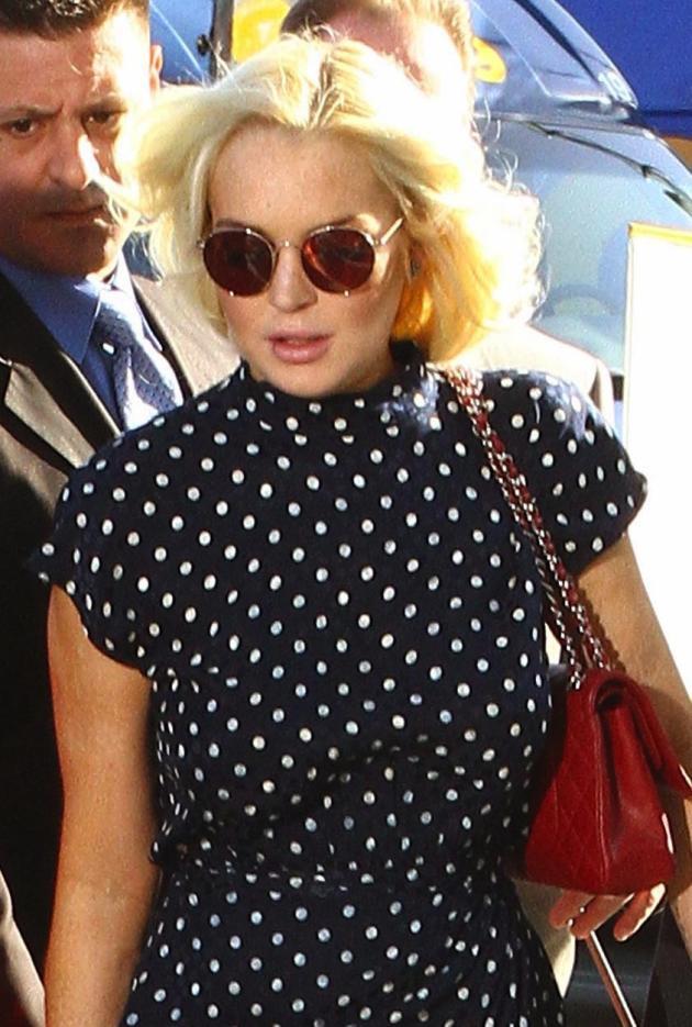 Lindsay Lohan, Short Curly Hair
