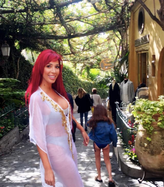 Farrah abraham with sophia in italy