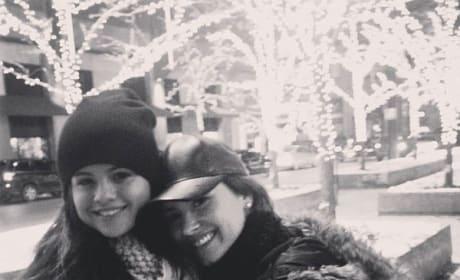 Selena Gomez with Demi Lovato