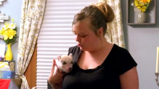 Catelynn with a Pet