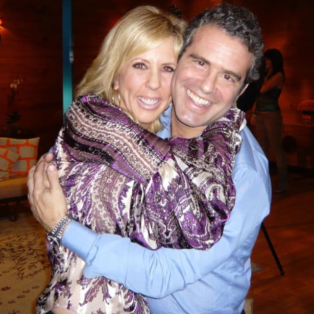 Andy cohen and vicki gunvalson embrace