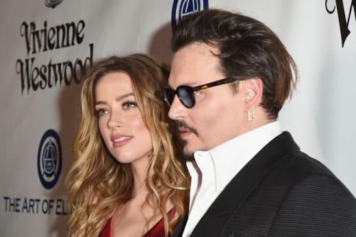 Amber Heard and Johnny Depp Pic