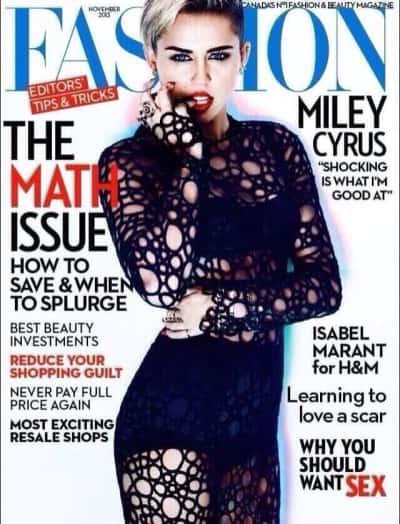 Miley Cyrus Fashion Cover