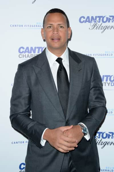 Alex Rodriguez in a Grey Suit