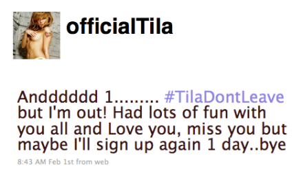 Did You Miss Tila Tequila?
