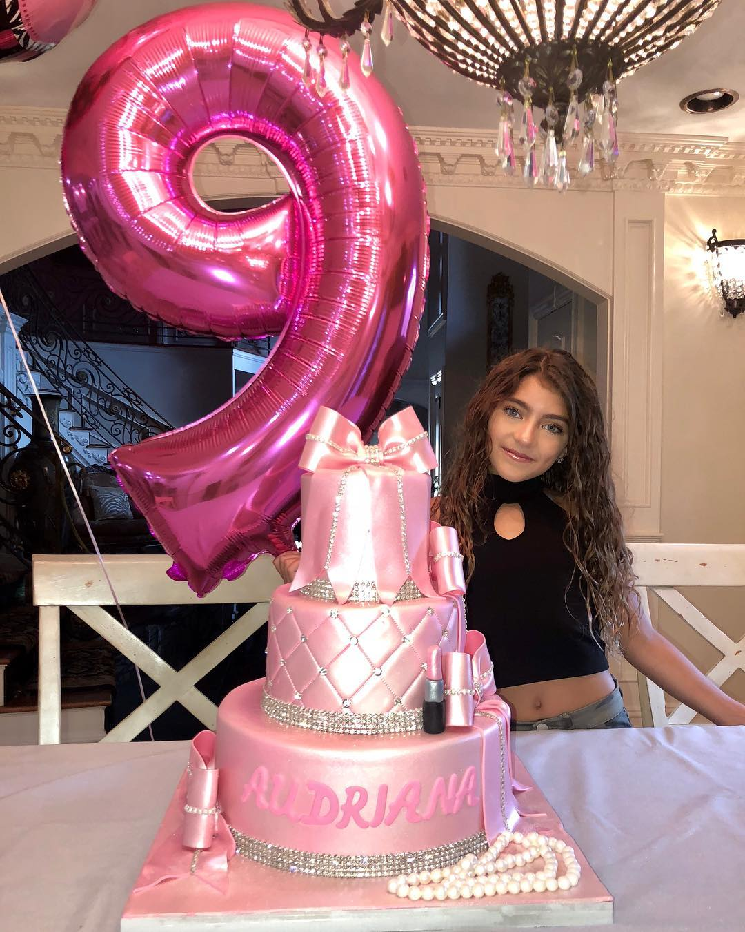 Astonishing Audriana Giudice And Birthday Cake The Hollywood Gossip Funny Birthday Cards Online Elaedamsfinfo