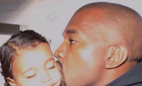 Kanye Kisses North