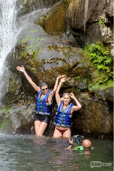 Heather and Tamra Under the Waterfall