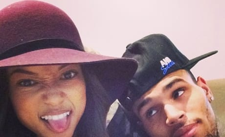 Karrueche Tran and Chris Brown Selfie