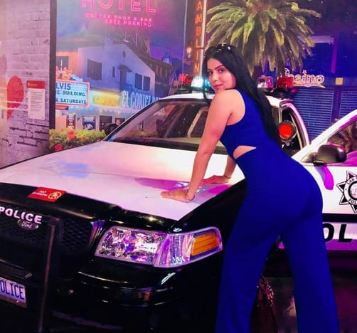 Larissa and a Police Car