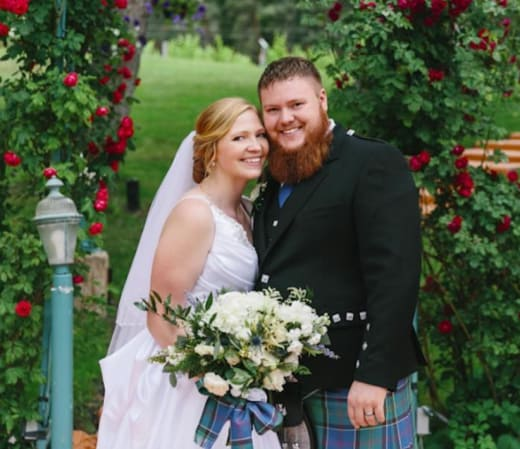Aspyn Brown and Mitch Thompson Wedding Photo