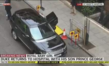 Royal Baby Watch: Prince George Arrives to Meet Little Sister!!!