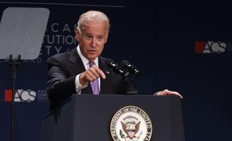 Joe Biden at the Mic