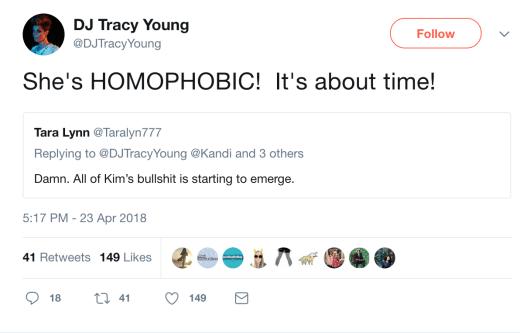 homphobia tweet