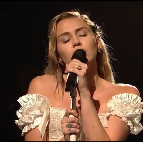 Miley Cyrus on Saturday Night Live Stage
