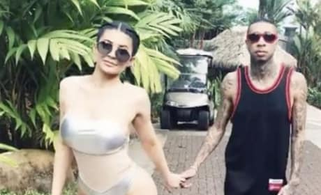 Kylie Jenner and Tyga Hold Hands