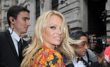 Pamela Anderson in Paris
