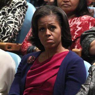 Sad Michelle Obama