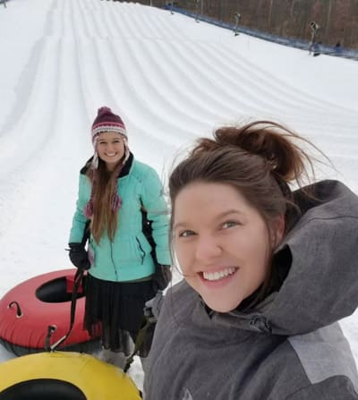 Kendra Caldwell with Amy Duggar
