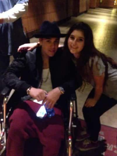 Justin Bieber Wheelchair